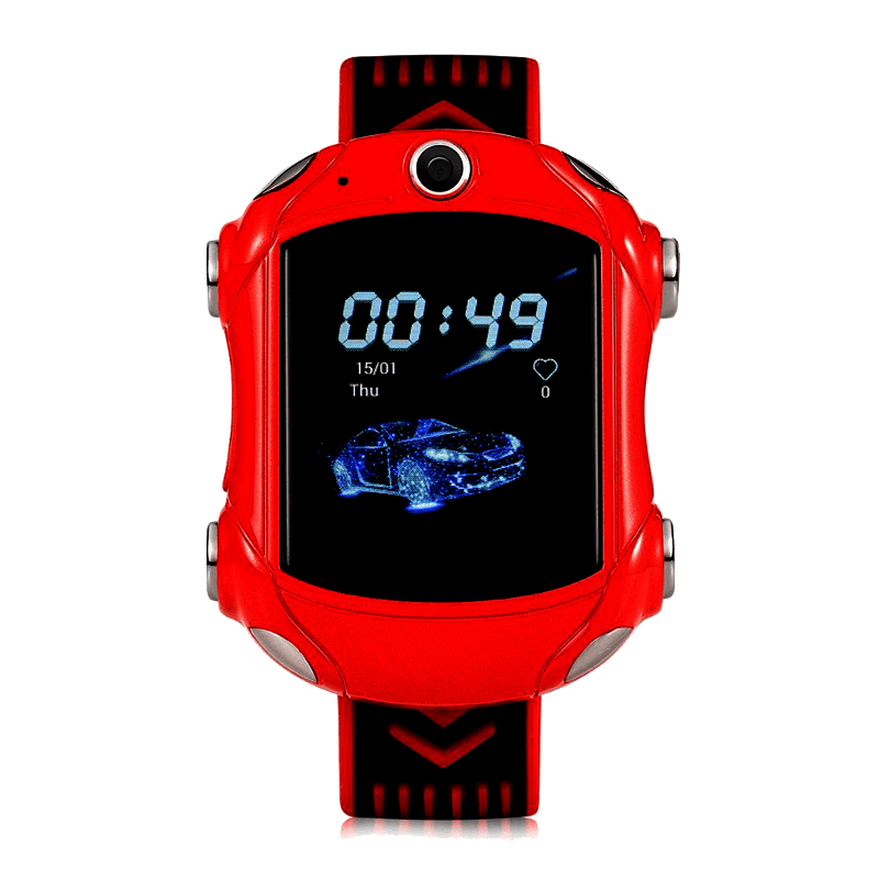 Car shaped red smartwatch