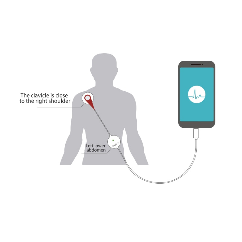 Portable Mini Wearable ECG Monitor