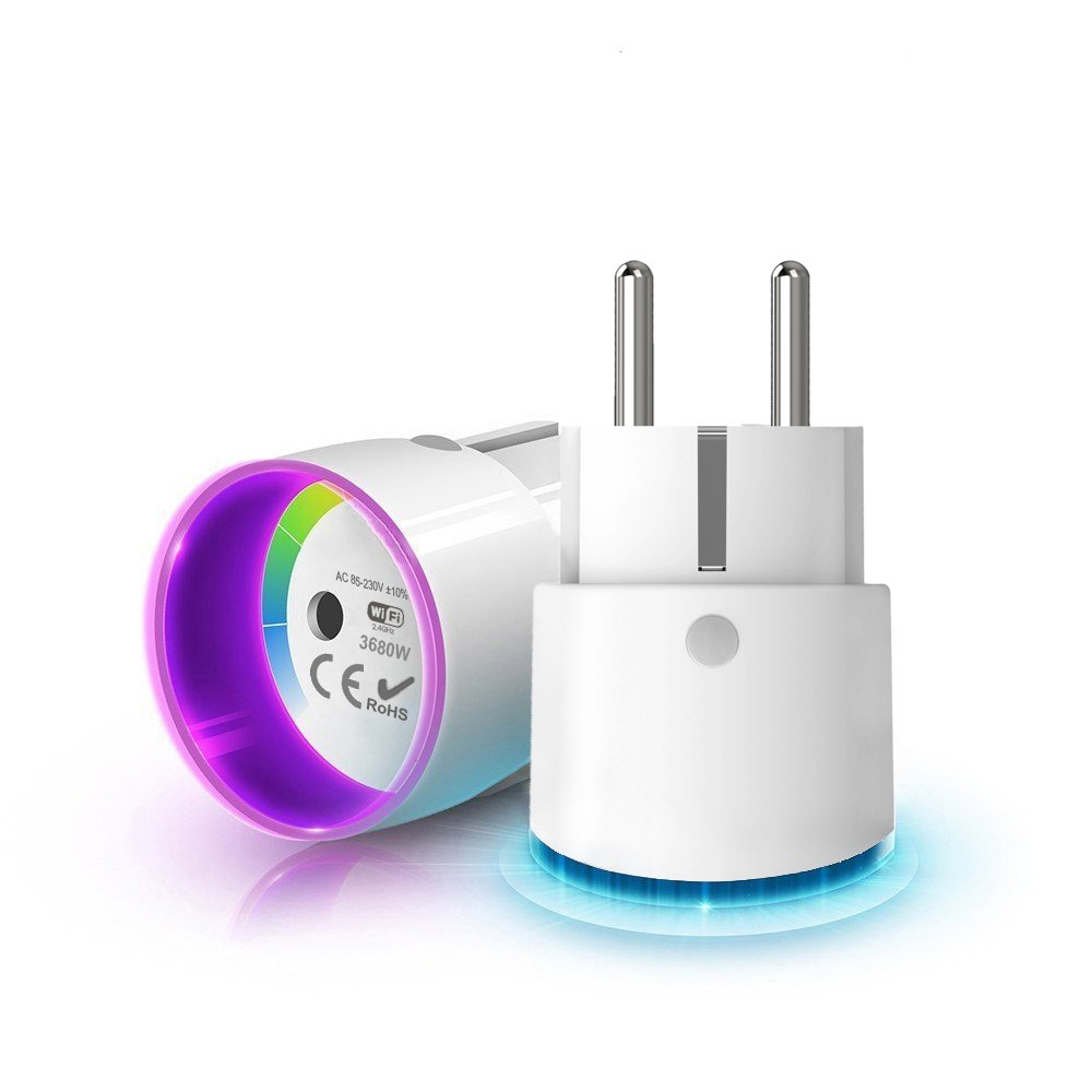 Round WiFi Smart Plug with Light